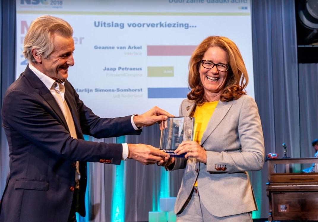 Geanne van Arkel van Interface verkozen tot 'MVO-manager van het Jaar' 2018