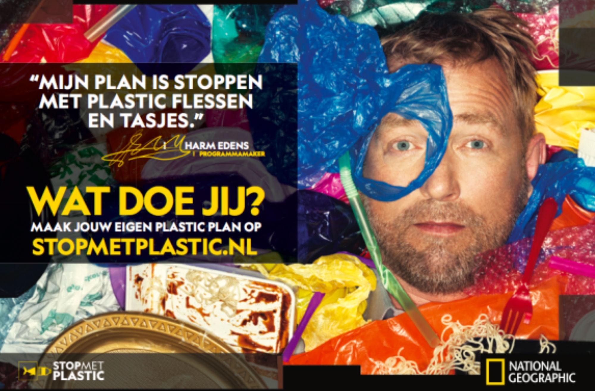 Harm Edens dit jaar ambassadeur National Geographic campagne 'Stop met Plastic'