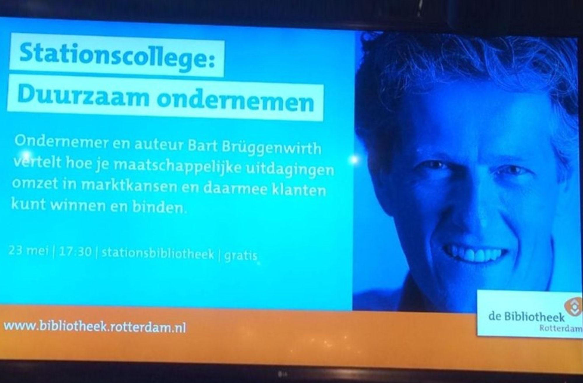 Bart Brüggenwirth geeft 'Stationscollege'
